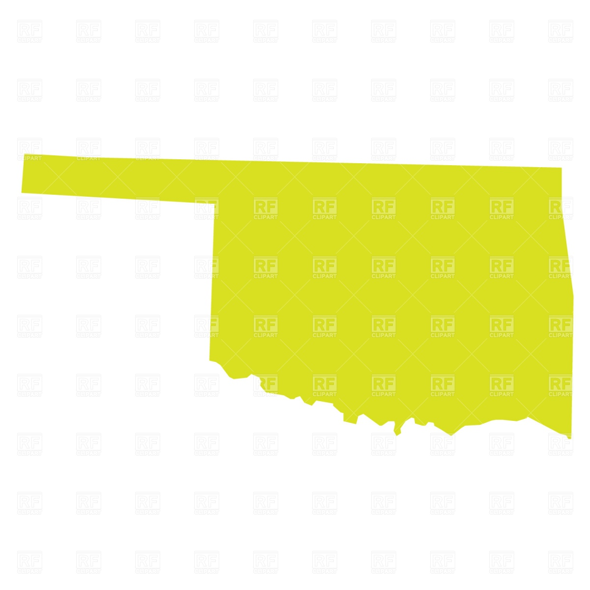 Oklahoma Clipart Oklahoma State Map Download Royalty Free Vector File