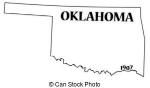 ... Oklahoma State And Date - An Oklahom-... Oklahoma State and Date - An Oklahoma state outline with the.-14
