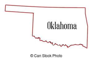 Oklahoma State Clip Artby cteconsulting5/372; Oklahoma - Outline map of the USA state of Oklahoma