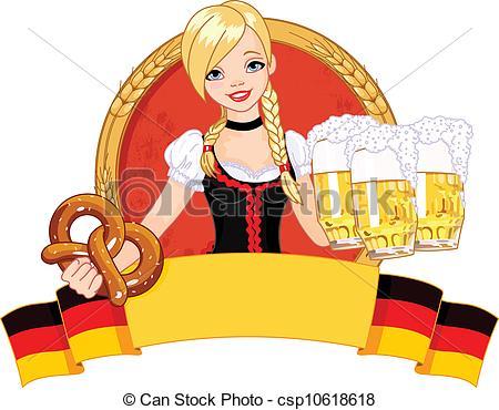 ... Oktoberfest Girl Design - Illustrati-... Oktoberfest girl design - Illustration of funny German girl.-16