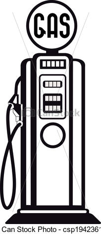Old fashioned gas pump clipart - ClipartFest