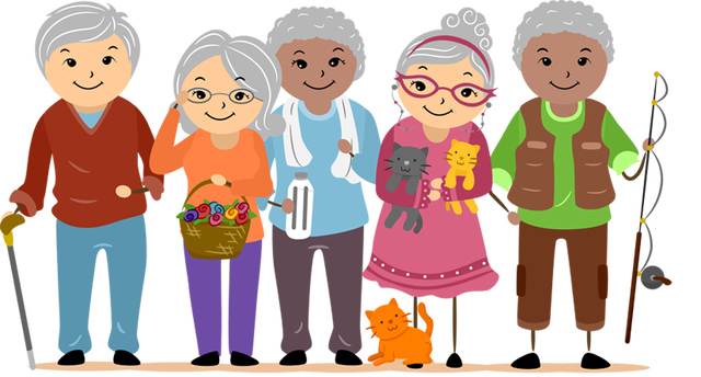 Old people clip art and .