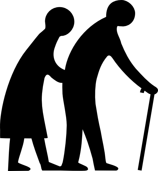 Old People Crossing The Road Clip Art At Clker Com Vector Clip Art