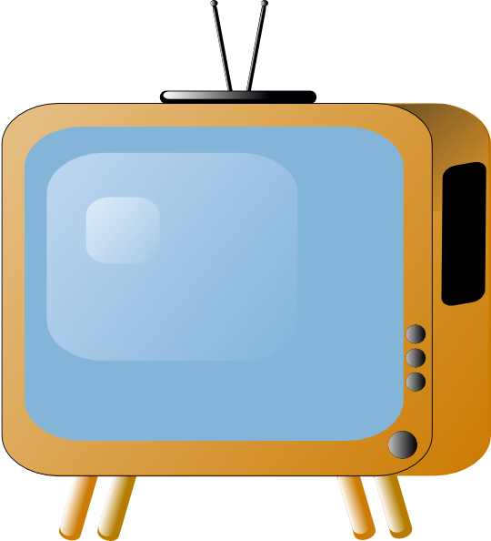 Old Styled Tv Set Clip Art At - Television Clip Art