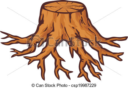 ... Old Tree Stump With Roots-... old tree stump with roots-4