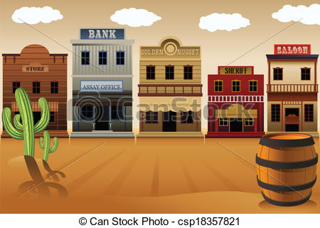 Old Western Town Csp18357821 Search Clip-Old Western Town Csp18357821 Search Clipart Illustration Drawings-7