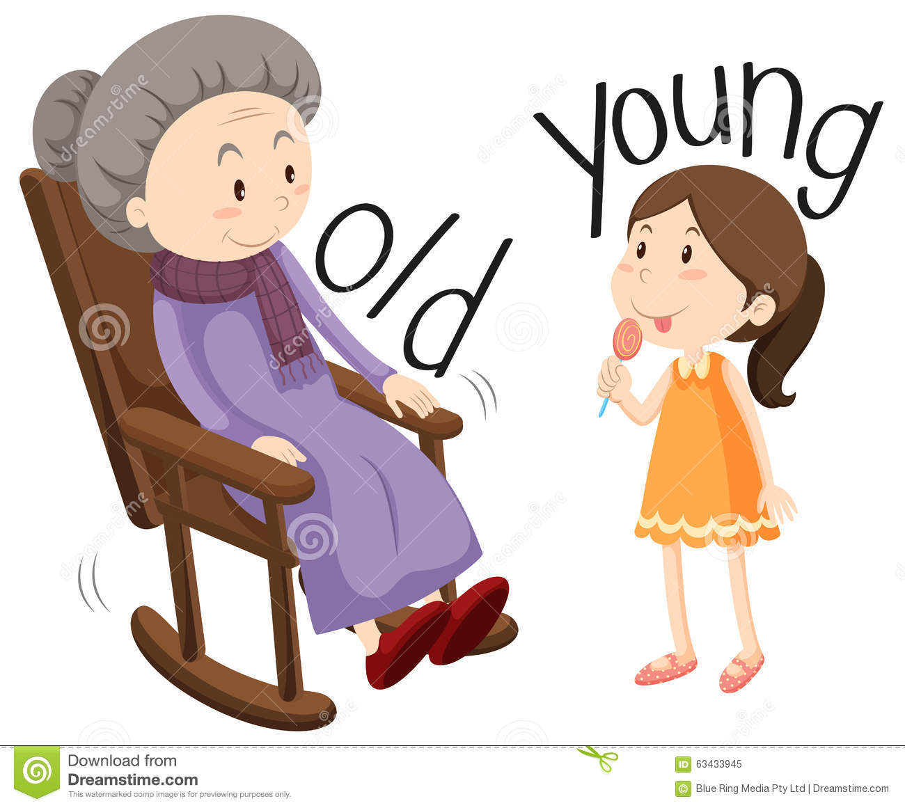 Old woman and young girl-Old woman and young girl-1