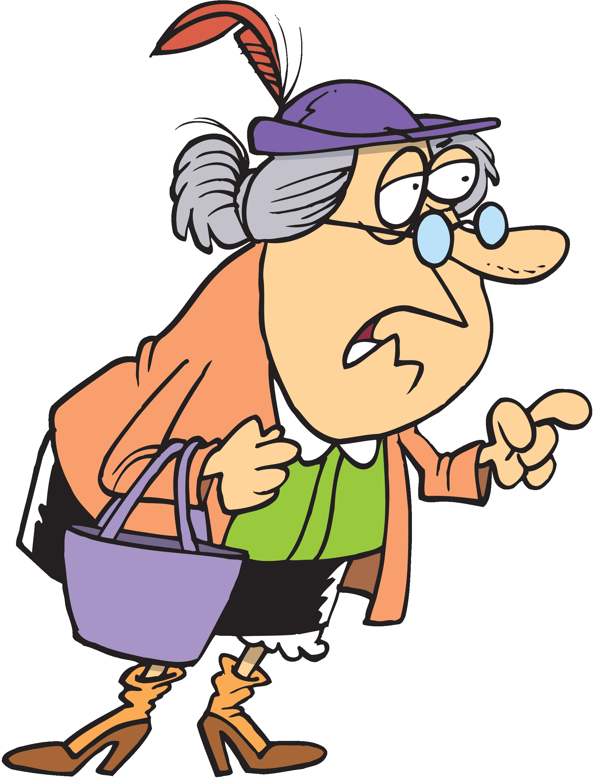Old Woman Cartoon Clipart .