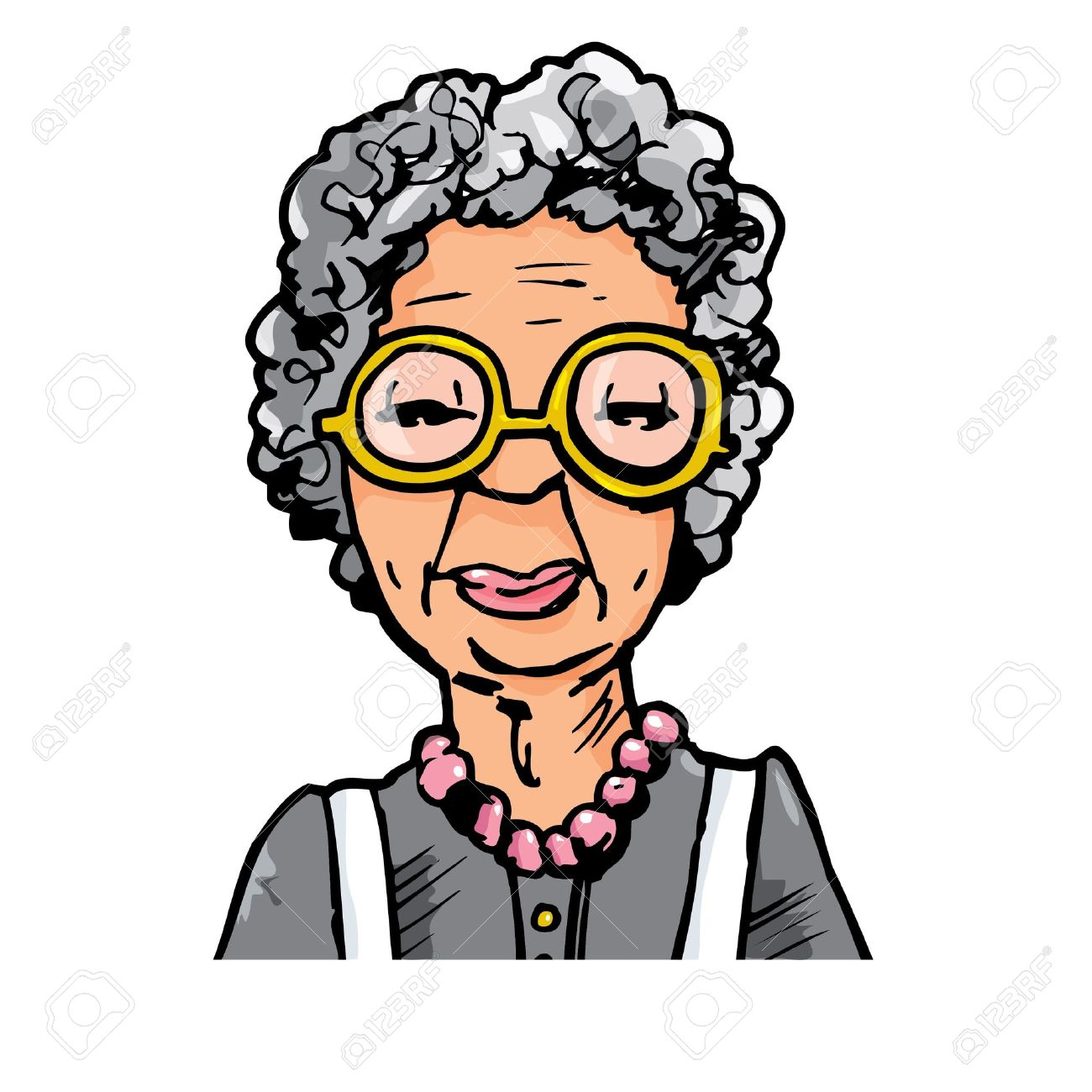 old woman: Cartoon of an old .-old woman: Cartoon of an old .-16