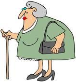 Old Woman With A Cane-Old Woman With A Cane-8