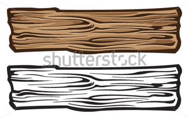 Old Wooden Planks Clipart #1