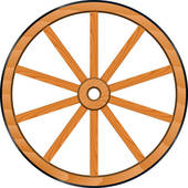 Old Wooden Wheel u0026middot; vector old Wooden Wheel
