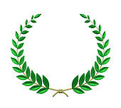 ... olive branch wreath ...