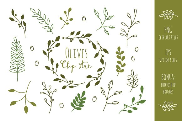 Olive Branches Clip Art and ...