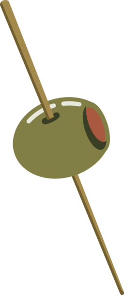 Olive On A Toothpick Clipart