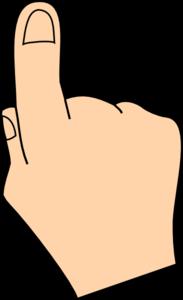 one finger clipart