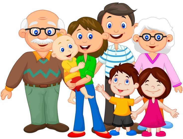 One Big Happy Family Clipart