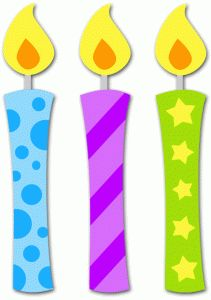 One birthday candle clipart - ClipartFest