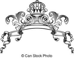 ... One Color Royal Crown Vintage Curves Banner