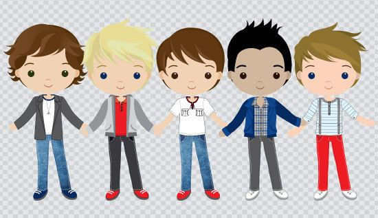 One Direction Inspired Set Clipart Instant Download by araqua