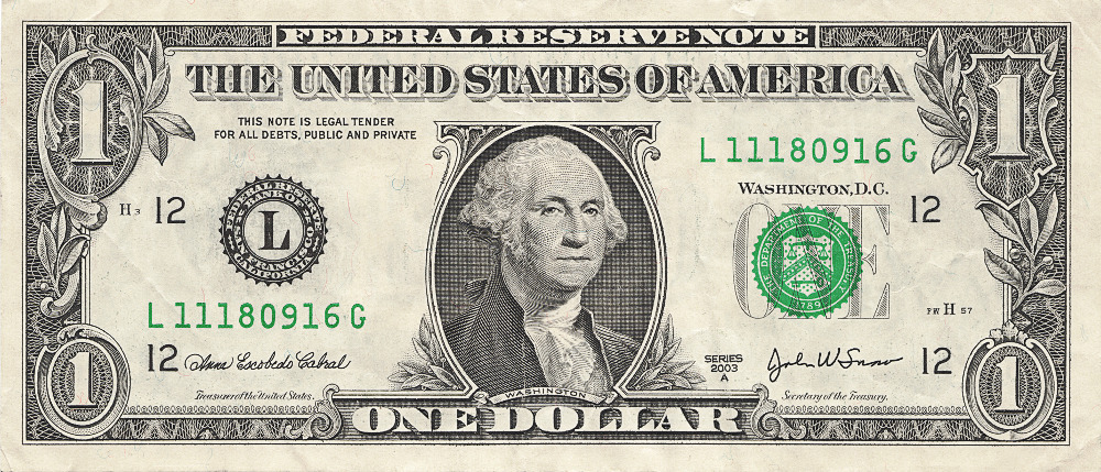one dollar bill US . - Clip Art Dollar
