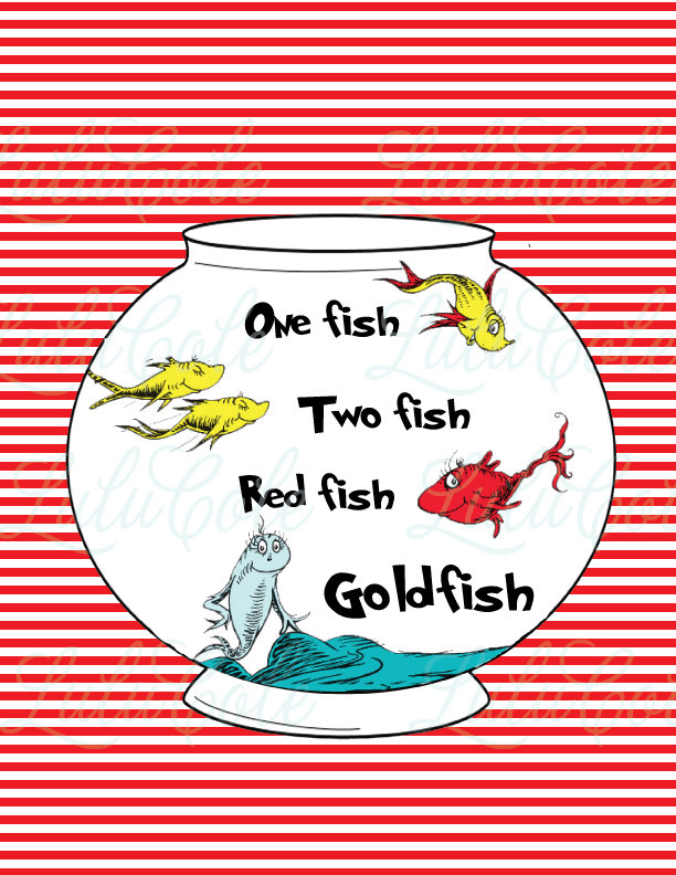 One Fish Two Fish Clip Art Instant Download One Fish