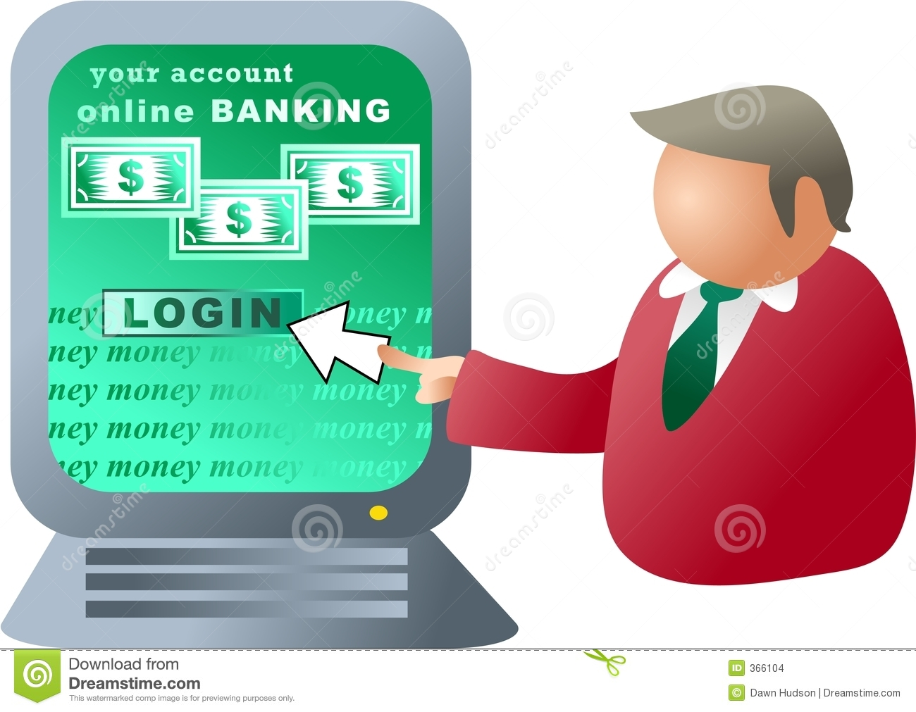 Computer Banking Stock Illustration. Ill-Computer banking stock illustration. Illustration of executives - 366104-4