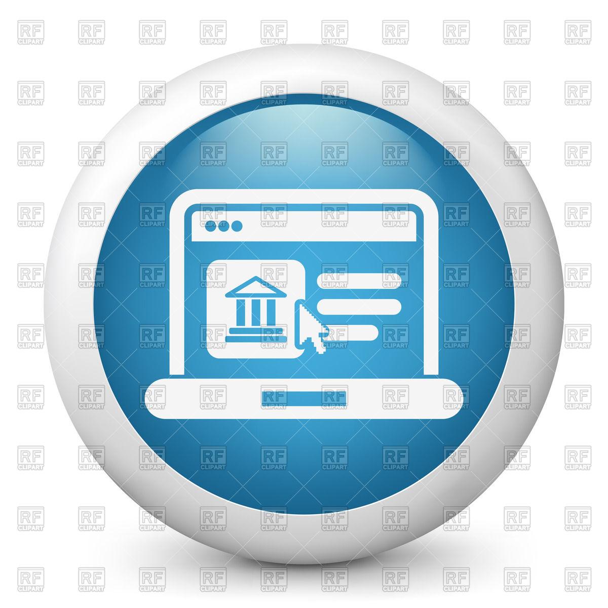 Historical Website Page Icon - Online Ba-Historical website page icon - online banking Royalty Free Vector Clip Art-6