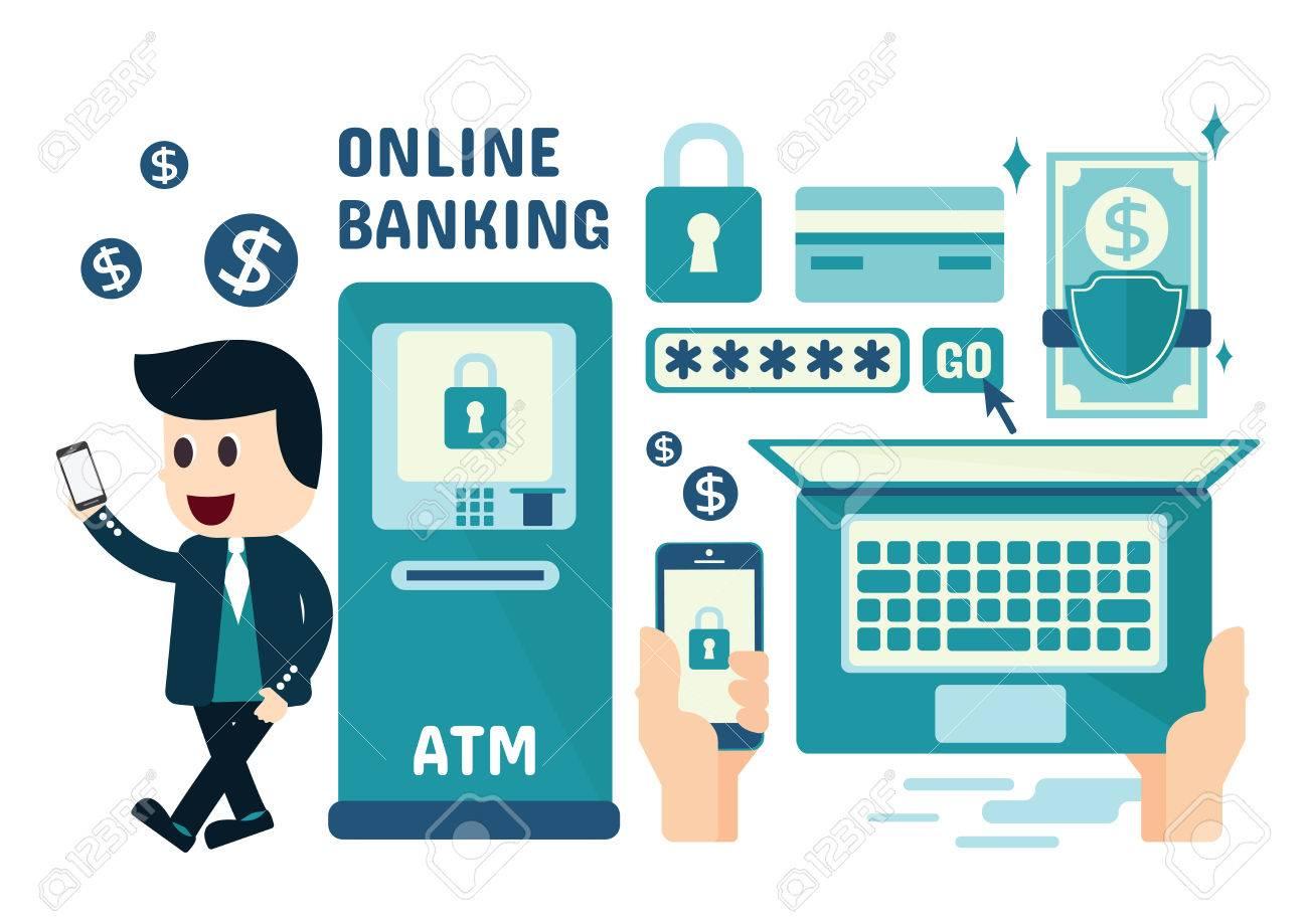 Online Banking Infographics, Flat Design-Online Banking Infographics, Flat Design Stock Vector - 45802276-17