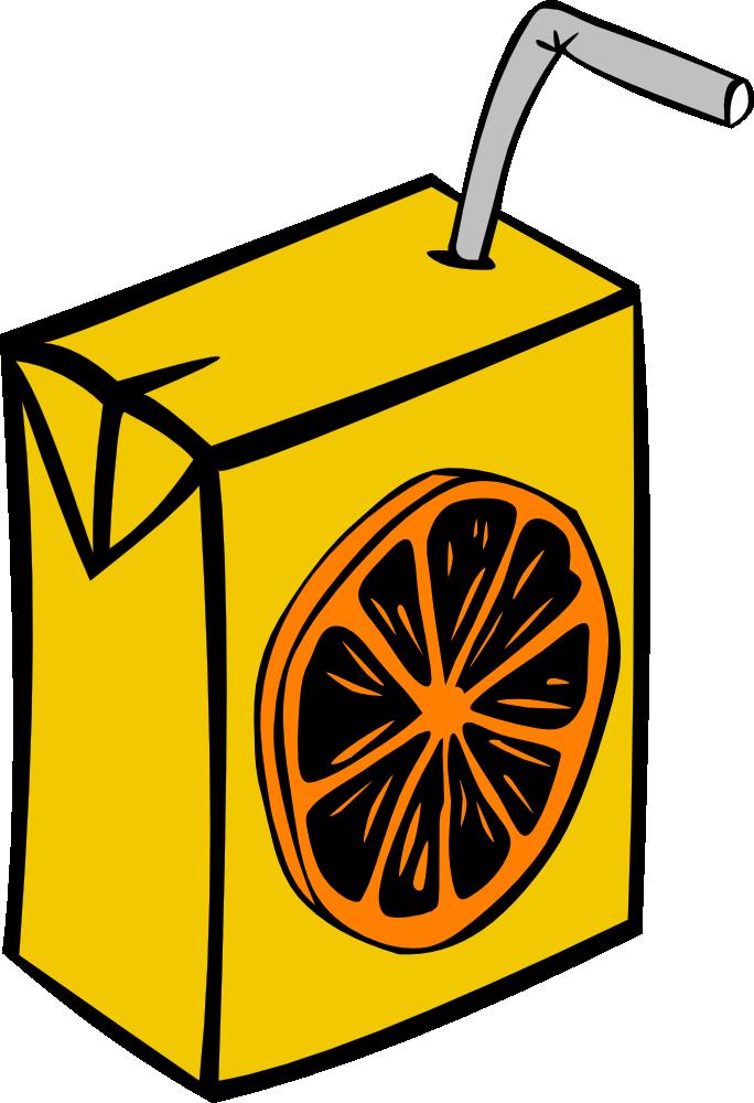 OnlineLabels Clip Art - Orange Juice Box
