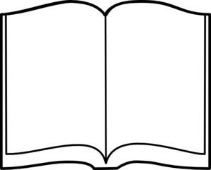 Open Book Clipart Black And White-open book clipart black and white-9