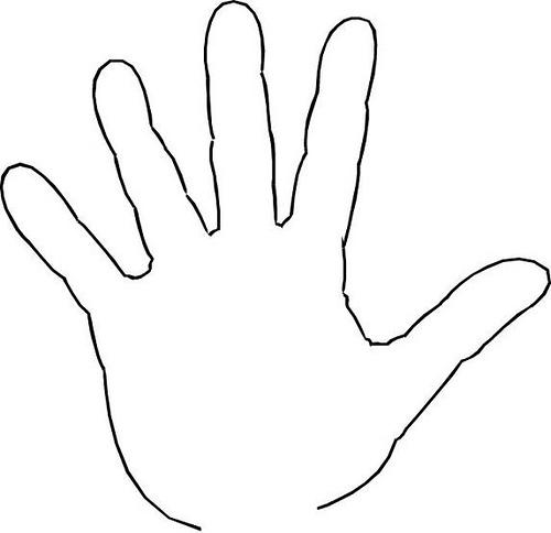 Open Hand Outline-open hand outline-15