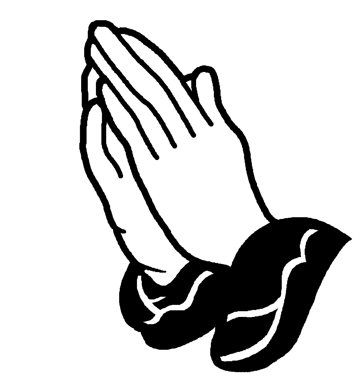 open praying hands clipart