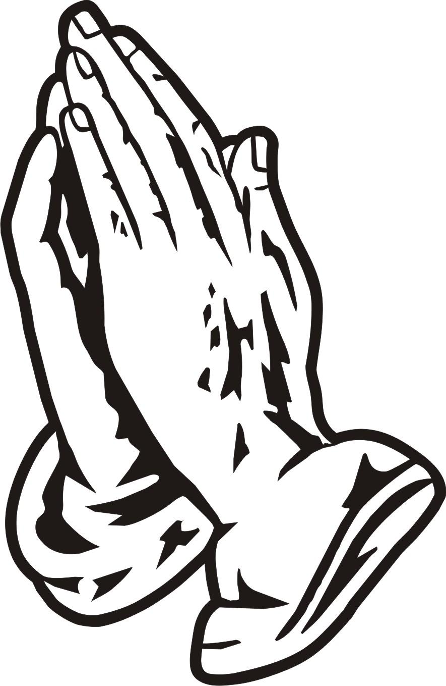 Open Praying Hands Clipart-open praying hands clipart-4