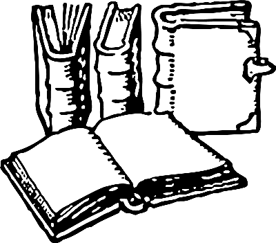 Black And White Book Clipart Look At Clip Art Images Clipartlook