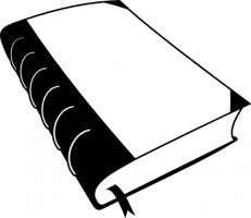 Open book clip art free vector .