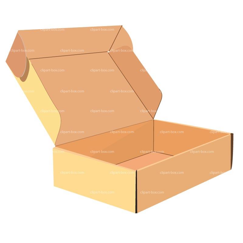 Open Box Clipart Clipart Open Cardboard Box
