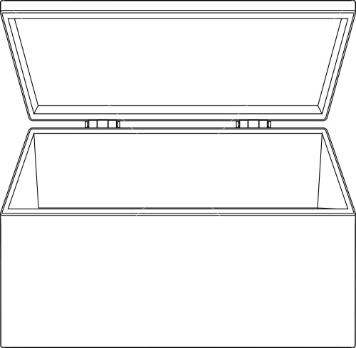 Open Box Clipart Stock Image .
