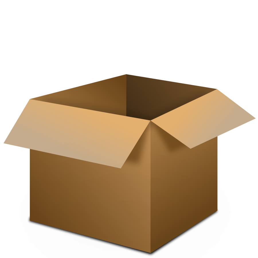 Open Cardboard Box Clipart #1-Open Cardboard Box Clipart #1-3
