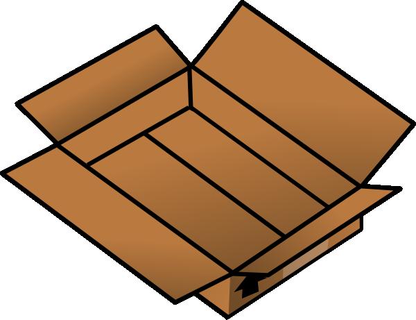 Open Cardboard Box Clipart