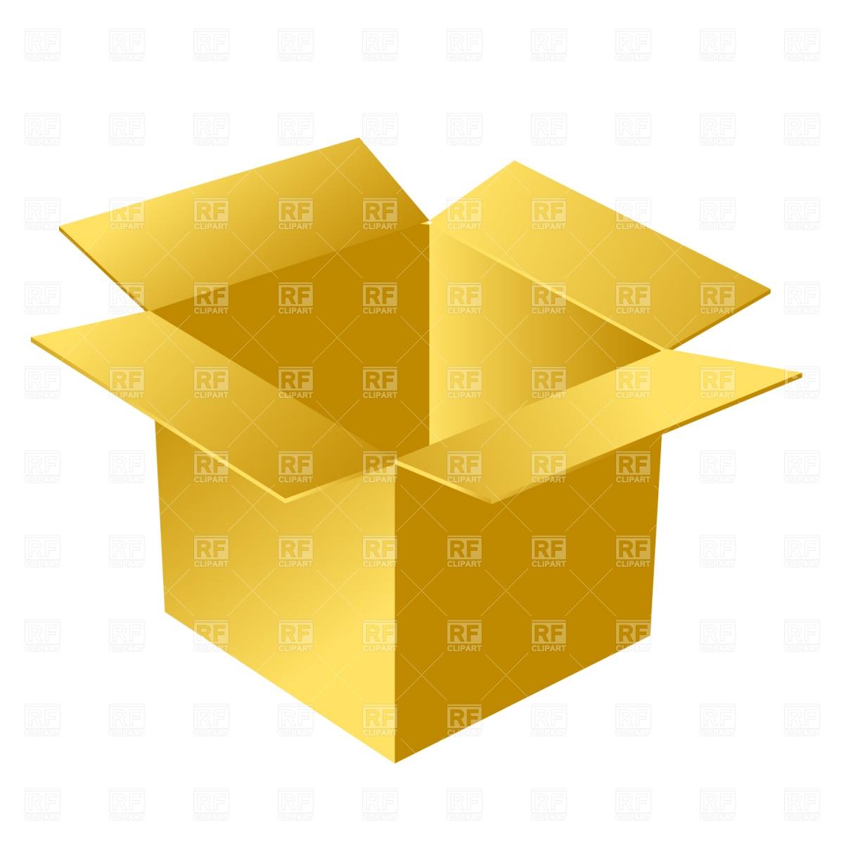 Open Cardboard Box Download Royalty Free-Open Cardboard Box Download Royalty Free Vector Clipart Eps-16