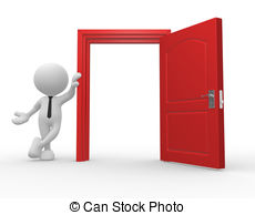 ... Open Door - 3d People - Man, Person -... Open door - 3d people - man, person and a open door.-14