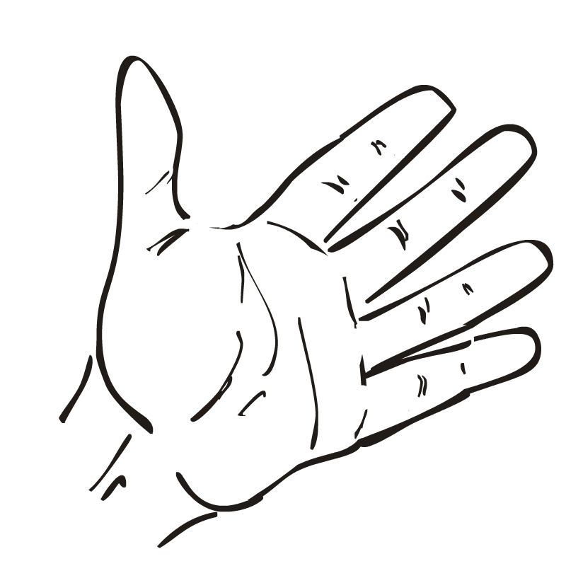 Open Giving Hands Clipart. Hand Outline Template Printable