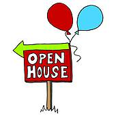 ... open house sign ...