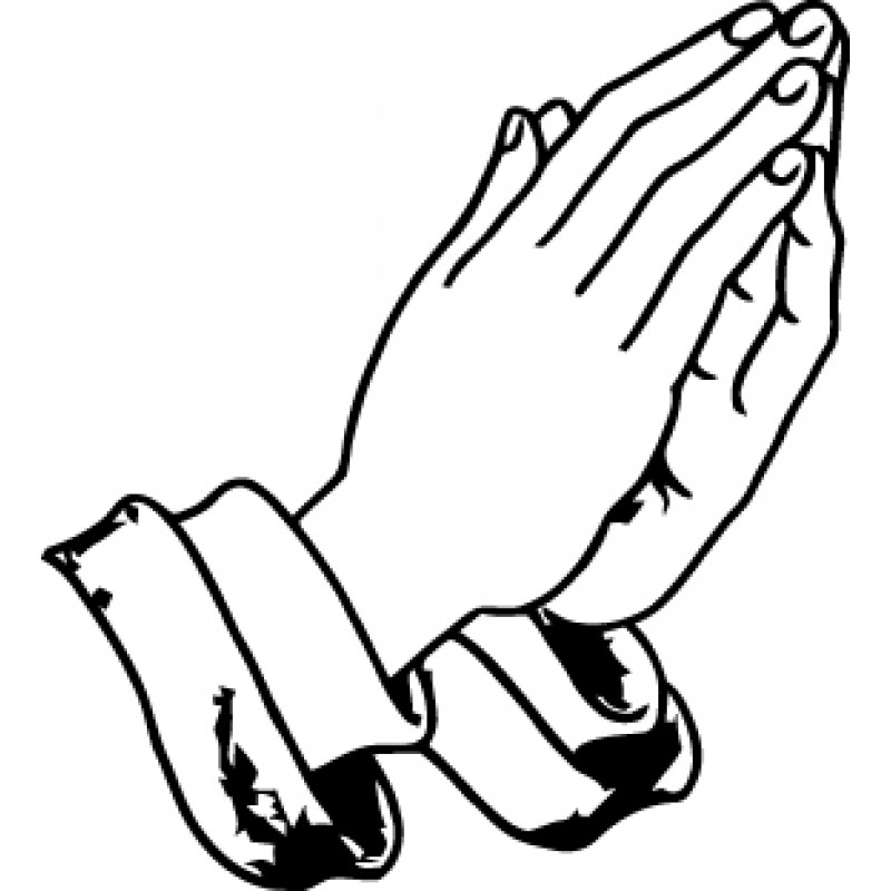 Open Praying Hands Drawing