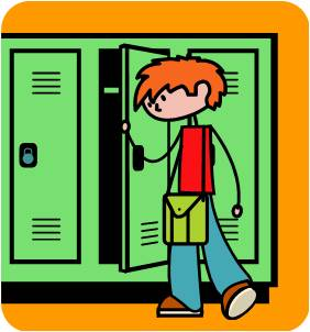 Open School Locker Clip Art O - Locker Clip Art