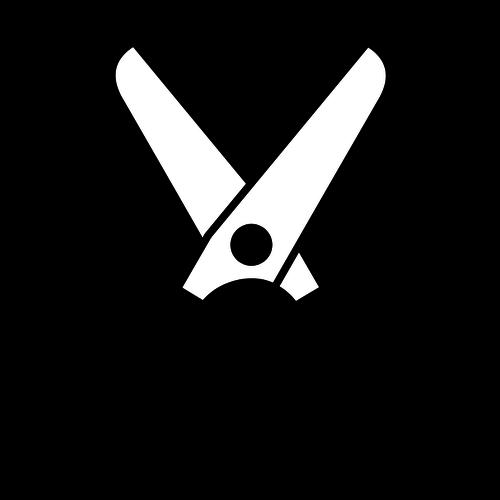 Open scissors icon vector drawing-Open scissors icon vector drawing-11