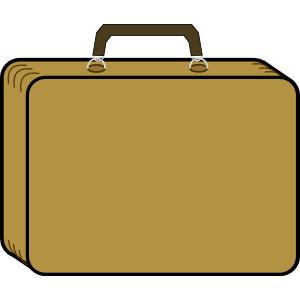 Open Suitcase Clipart