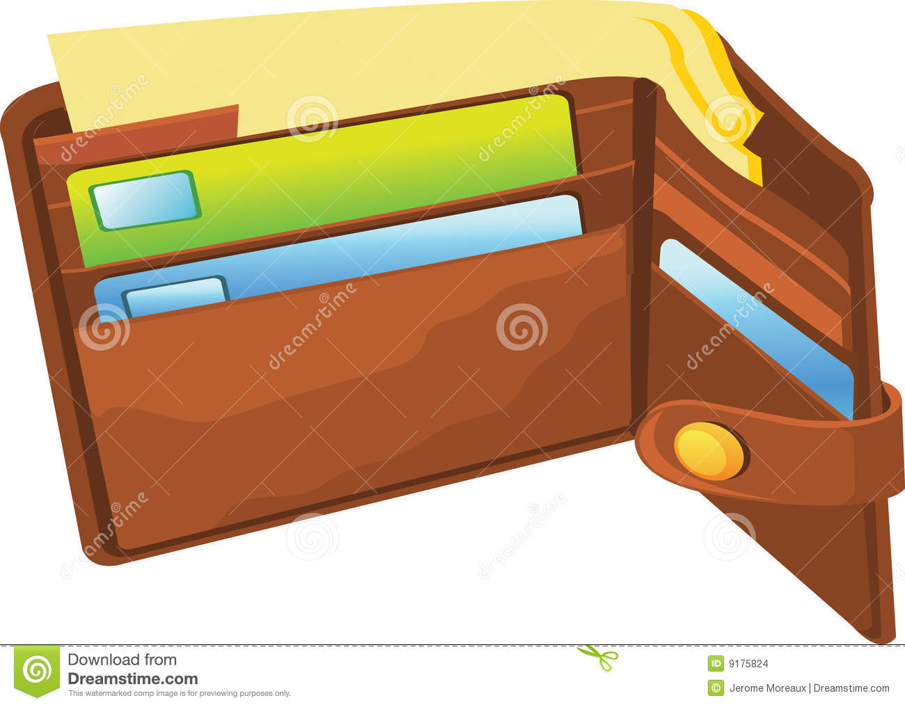 Open Wallet Illustration On A White Background