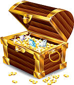 ... opened treasure chest with treasures-... opened treasure chest with treasures-18